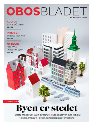 Cosmopola - Amazing paper art for OBOS Bladet magazine