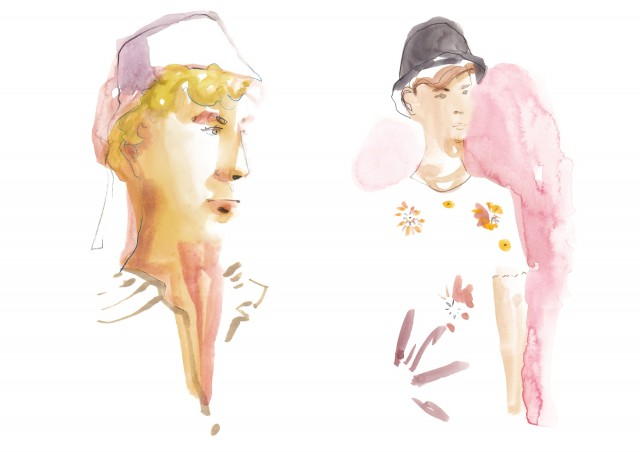 Cosmopola - Francesco Lo Iacono - Live Illustrated Coverage for LOEWE SS19